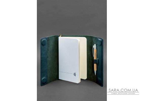 Шкіряний блокнот софт-бук 7.0 зелений - BN-SB-7-malachite BlankNote