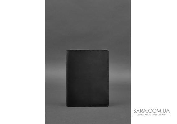 Шкіряна обкладинка для блокнота 6.0 (софт-бук) чорна Краст - BN-SB-6-g BlankNote