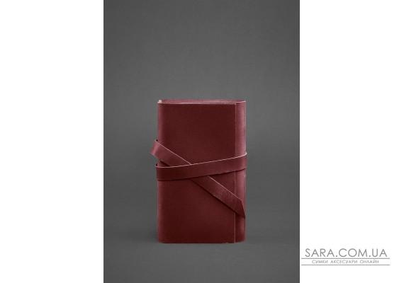 Жіночий шкіряний блокнот (Софт-бук) 1.0 бордовий Crazy Horse - BN-SB-1-st-vin-kr BlankNote
