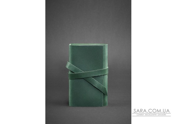 Шкіряний блокнот (Софт-бук) 1.0 зелений - BN-SB-1-st-iz BlankNote
