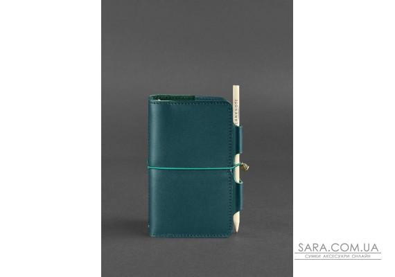 Шкіряний блокнот (Софт-бук) 3.0 зелений - BN-SB-3-malachite BlankNote