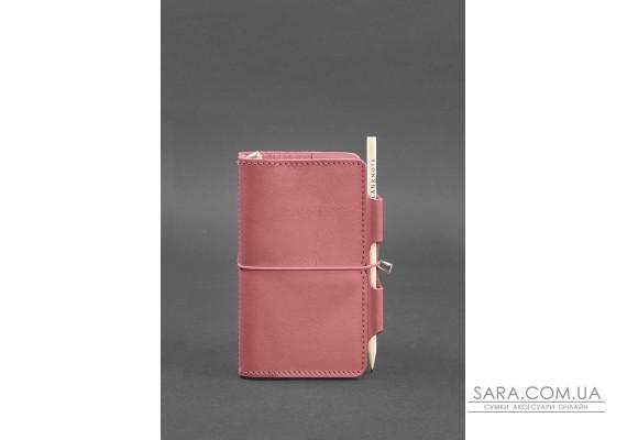 Шкіряний блокнот (Софт-бук) 3.0 рожевий - BN-SB-3-pink-peach BlankNote