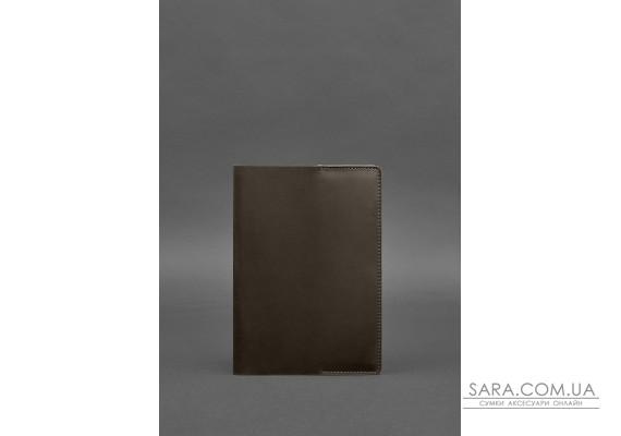 Шкіряна обкладинка для блокнота 6.0 (софт-бук) темно-коричнева - BN-SB-6-o BlankNote