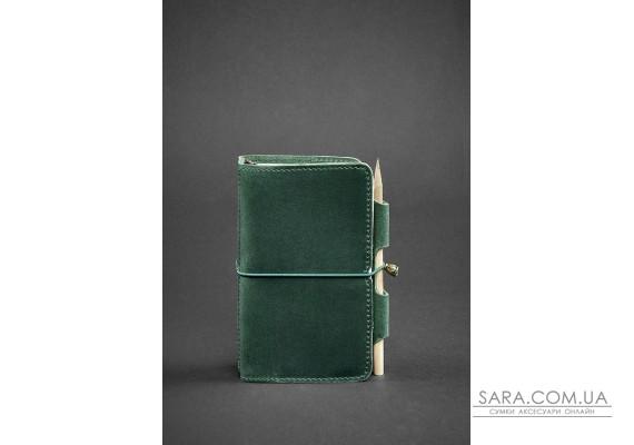Шкіряний блокнот (Софт-бук) 3.0 зелений Crazy Horse - BN-SB-3-mi-iz BlankNote