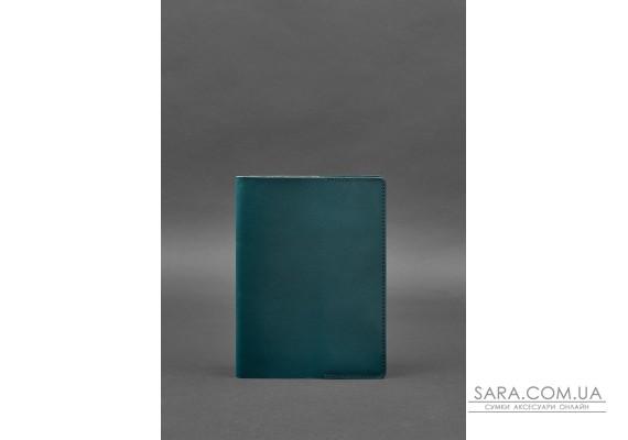 Шкіряна обкладинка для блокнота 6.0 (софт-бук) зелена - BN-SB-6-malachite BlankNote