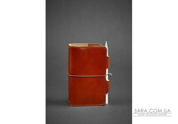 Шкіряний блокнот (Софт-бук) 3.0 світло-коричневий - BN-SB-3-mi-k BlankNote