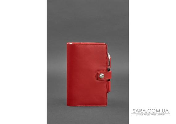 Жіночий шкіряний блокнот (Софт-бук) 4.0 червоний - BN-SB-4-red BlankNote