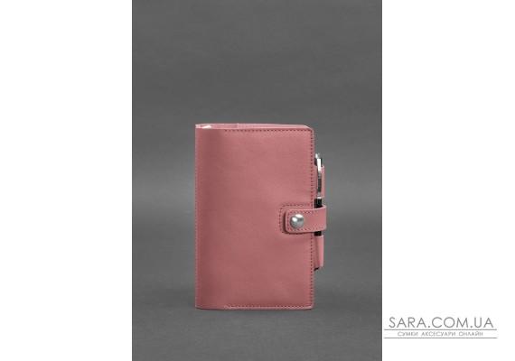 Жіночий шкіряний блокнот (Софт-бук) 4.0 рожевий - BN-SB-4-pink-peach BlankNote