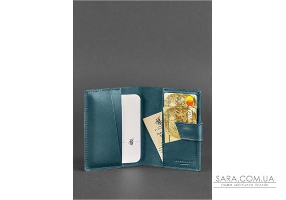 Шкіряна обкладинка для паспорта 4.0 зелена - BN-OP-4-malachite BlankNote