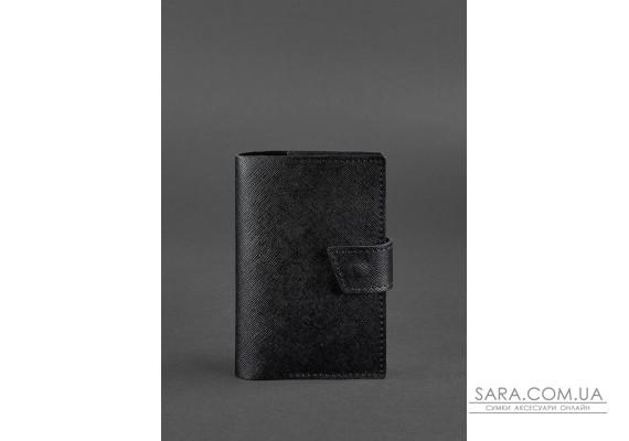 Шкіряна обкладинка для паспорта 4.0 чорна Blackwood - BN-OP-4-blackwood BlankNote