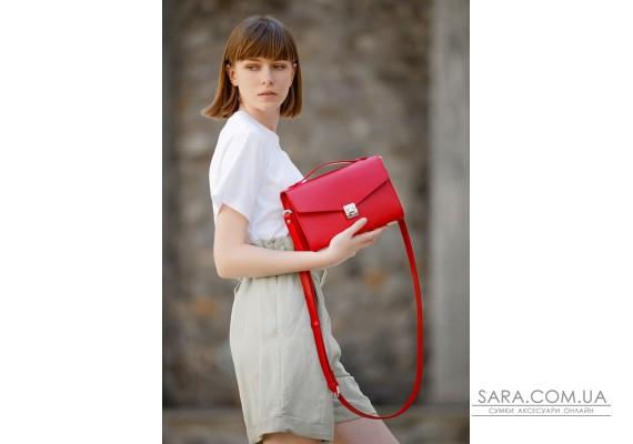 Жіноча шкіряна сумка-кроссбоді Lola червона - BN-BAG-35-rubin BlankNote