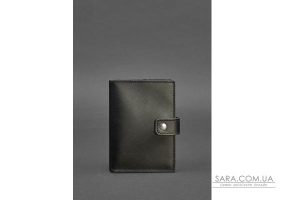 Шкіряна обкладинка для паспорта 5.0 (з віконцем) чорна - BN-OP-5-g BlankNote