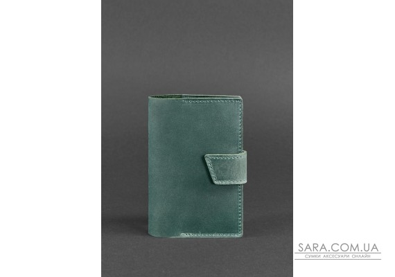 Шкіряна обкладинка для паспорта 4.0 зелена Crazy Horse - BN-OP-4-iz BlankNote