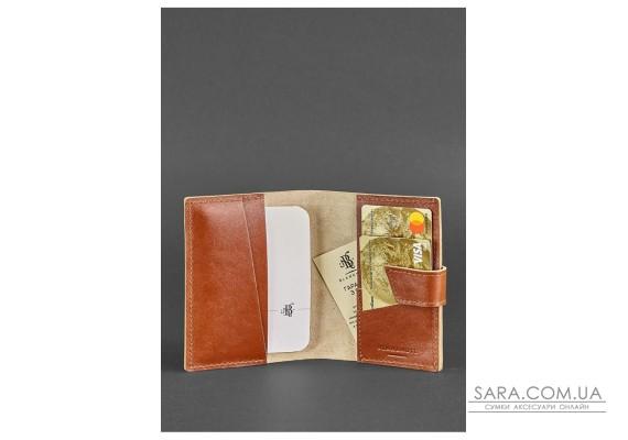 Шкіряна обкладинка для паспорта 4.0 світло-коричнева - BN-OP-4-k BlankNote