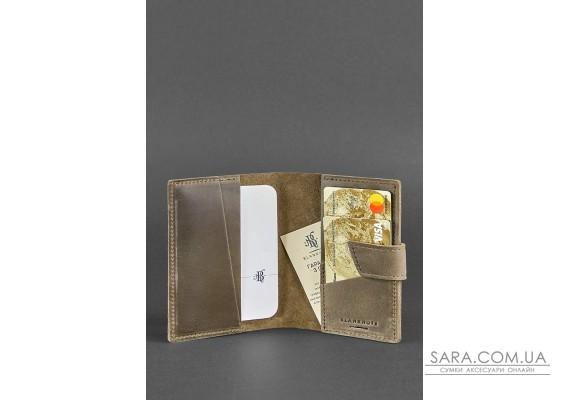 Шкіряна обкладинка для паспорта 4.0 темно-коричнева - BN-OP-4-o BlankNote