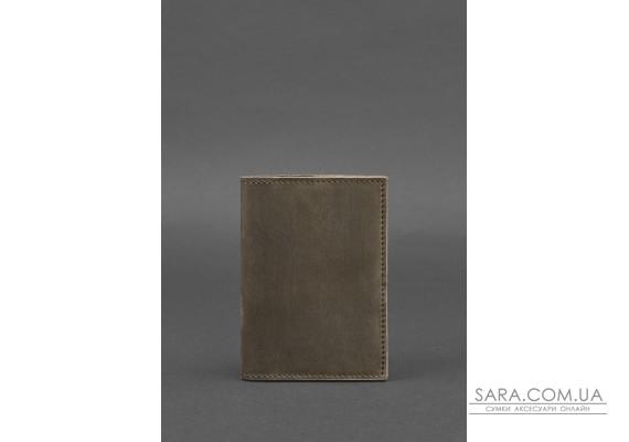 Шкіряна обкладинка для паспорта 1.2 темно-коричнева - BN-OP-1-2-o BlankNote