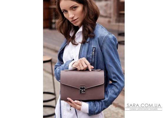 Жіноча шкіряна сумка-кроссбоді Lola темно-бежева - BN-BAG-35-beige BlankNote