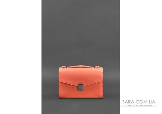 Жіноча шкіряна сумка-кроссбоді Lola Живий корал - BN-BAG-35-living-coral BlankNote