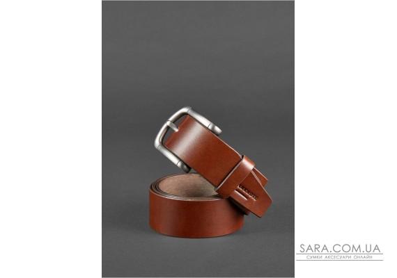Чоловічий ремінь 40 мм коричневий - BN-BELT-2-flint BlankNote