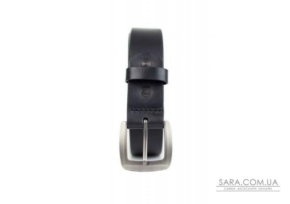 Шкіряний ремінь 33 мм чорний - TW-Belt-33-black The Wings