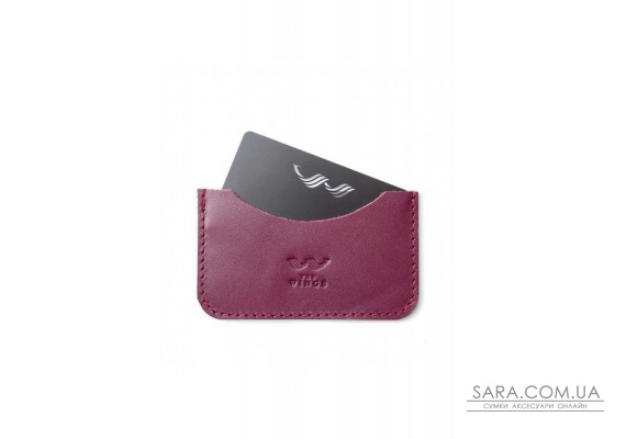 Шкіряний кардхолдер Pocket бордовий - TW-CardHolder-Poc-mars-ksr The Wings