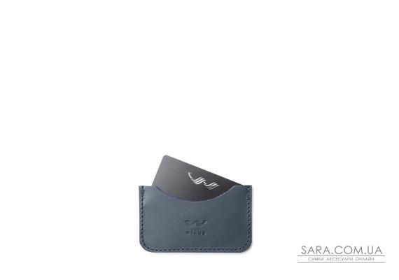 Шкіряний кардхолдер Pocket синій - TW-CardHolder-Poc-blue-ksr The Wings