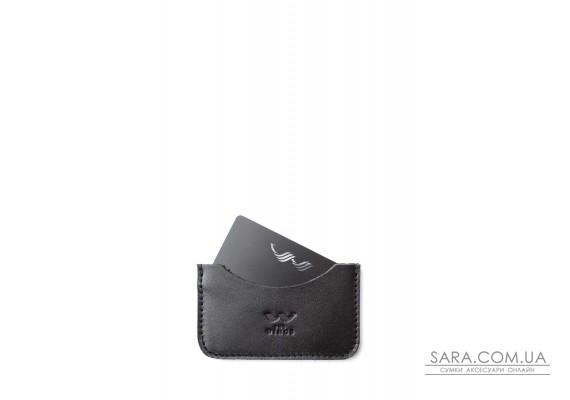Шкіряний кардхолдер Pocket чорний - TW-CardHolder-Poc-black-ksr The Wings