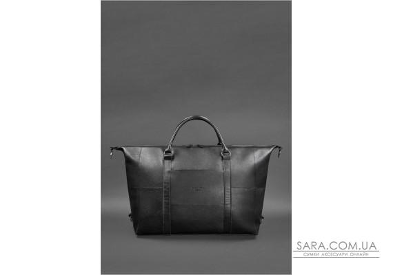 Шкіряна дорожня сумка чорна - BN-BAG-41-noir BlankNote