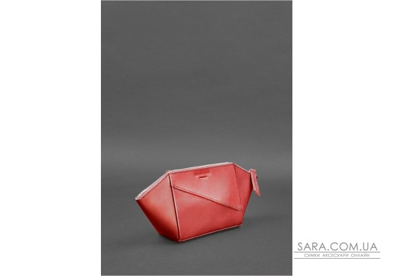 Женская кожаная косметичка Красная - BN-CB-2-red BlankNote