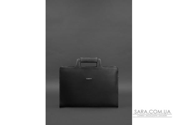 Шкіряна сумка для ноутбука і документів чорна Краст - BN-BAG-36-g BlankNote