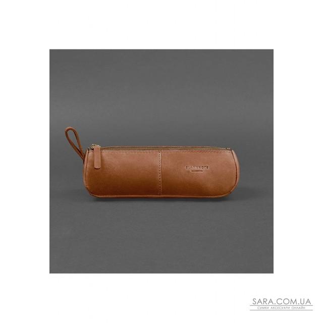Купити Шкіряний пенал-несесер (футляр для окулярів) 4.0 Світло-коричневий Crazy Horse - BN-CB-4-k-kr BlankNote. Україна