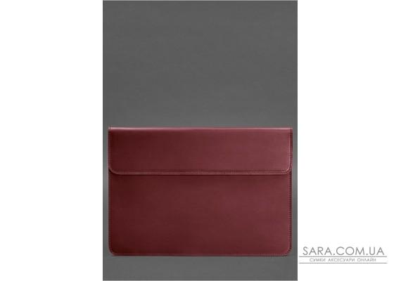 Шкіряний чохол-конверт на магнітах для MacBook Pro 15-16 '' Бордовий Crazy Horse - BN-GC-12-vin-kr BlankNote