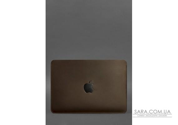 Горизонтальний шкіряний чохол для MacBook Air / Pro 13 '' Темно-коричневий - BN-GC-10-o BlankNote