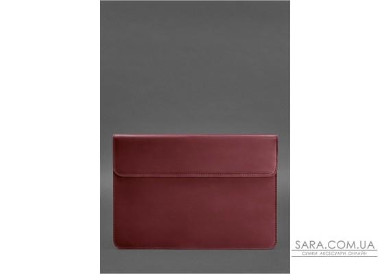 Шкіряний чохол-конверт на магнітах для MacBook Air / Pro 13 ''Бордовий Crazy Horse - BN-GC-9-vin-kr BlankNote