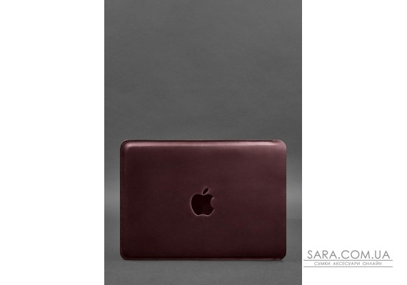 Шкіряний чохол для MacBook Air / Pro 13 '' Бордовий - BN-GC-7-vin-kr BlankNote