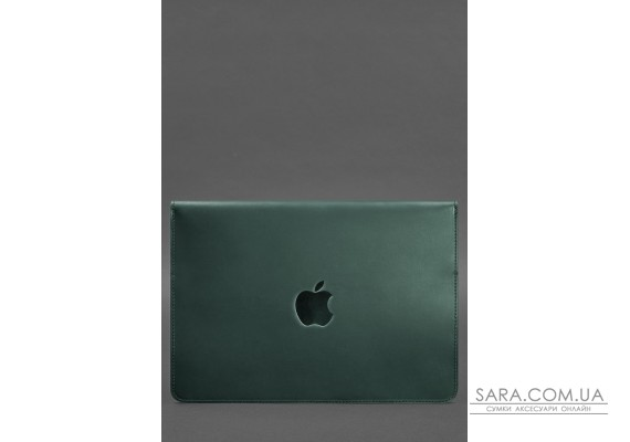 Шкіряний чохол-конверт на магнітах для MacBook Pro 15-16 '' Зелений - BN-GC-12-iz BlankNote