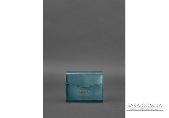 Жіноча шкіряна сумка поясна / кроссбоді Mini зелена - BN-BAG-38-2-malachite BlankNote