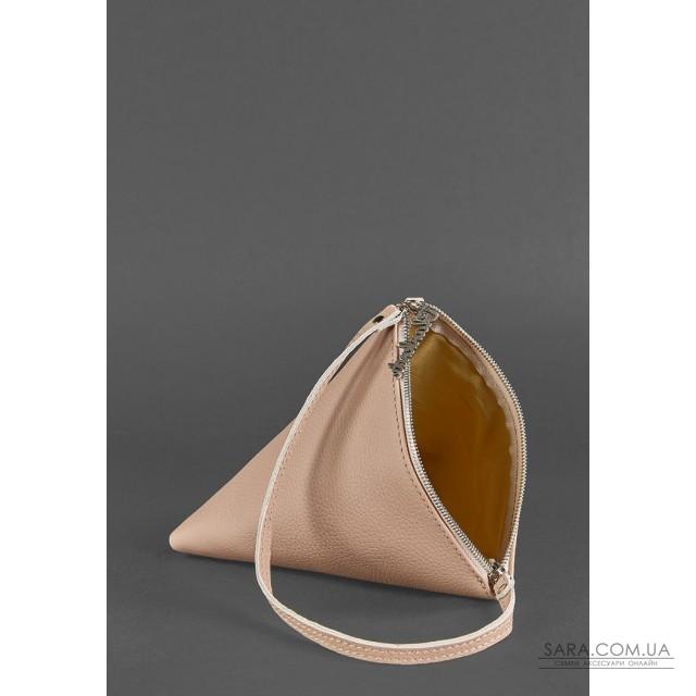 Купити Шкіряна жіноча сумку-косметичка Піраміда світло-бежева - BN-BAG-25-crem-brule BlankNote. Україна