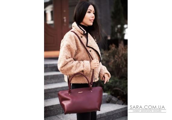 Жіноча шкіряна сумка Midi бордова - BN-BAG-24-vin BlankNote