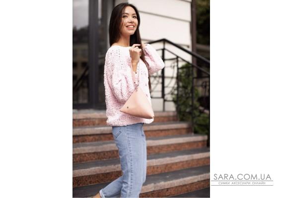 Кожаная женская сумка-косметичка Пирамида розовая - BN-BAG-25-barbi BlankNote