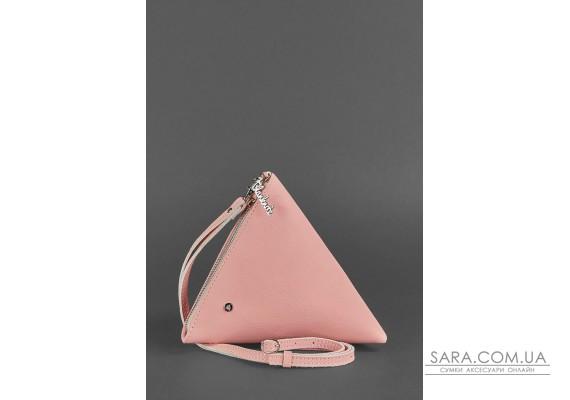 Шкіряна жіноча сумка-косметичка Піраміда рожева - BN-BAG-25-barbi BlankNote