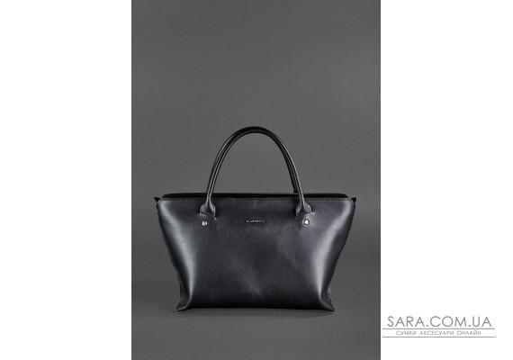 Жіноча шкіряна сумка Midi чорна - BN-BAG-24-g BlankNote