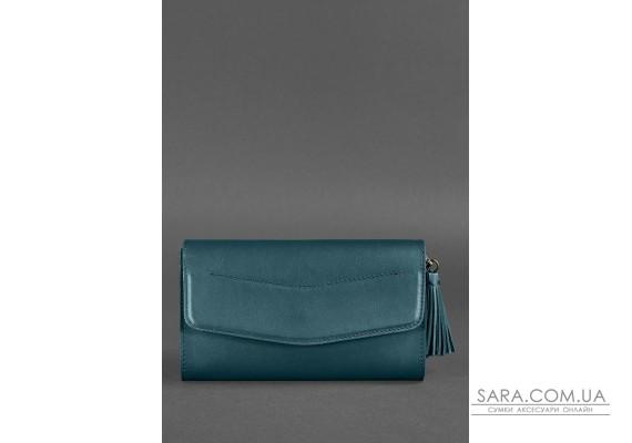 Шкіряна жіноча сумка Еліс зелена - BN-BAG-7-malachite BlankNote