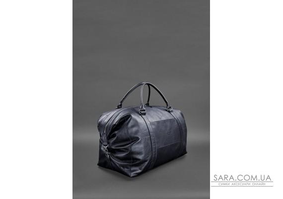 Шкіряна дорожня сумка темно-синя - BN-BAG-41-mystic BlankNote