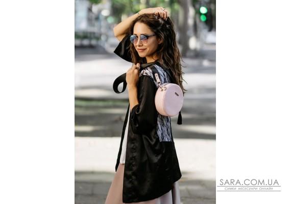 Кругла жіноча шкіряна сумочка Tablet рожева - BN-BAG-23-barbi BlankNote
