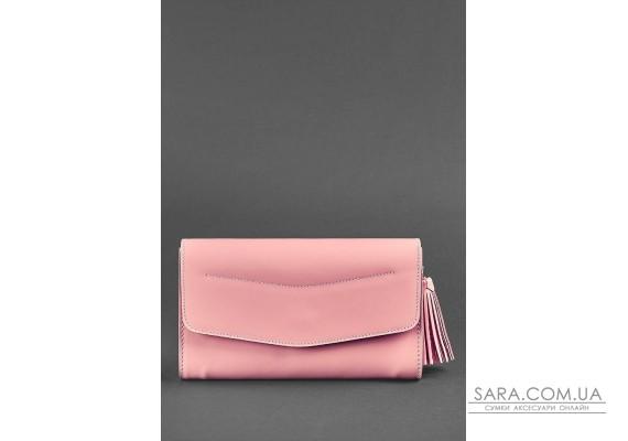 Шкіряна жіноча сумка Еліс рожева - BN-BAG-7-pink-peach BlankNote