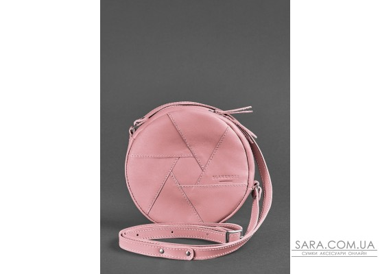 Шкіряна кругла жіноча сумка Бон-Бон рожева - BN-BAG-11-pink-peach BlankNote