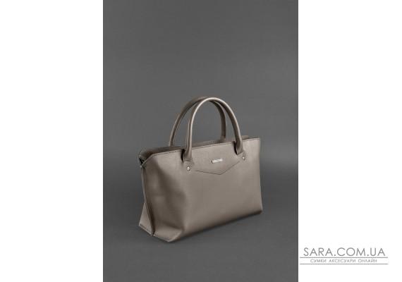 Жіноча шкіряна сумка Midi темно-бежева - BN-BAG-24-beige BlankNote