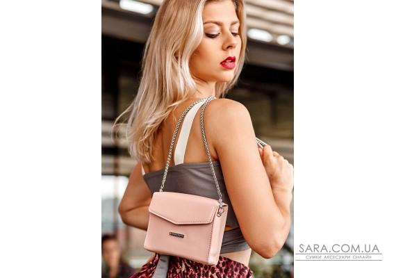 Жіноча шкіряна сумка поясна / кроссбоді Mini рожева - BN-BAG-38-2-pink BlankNote