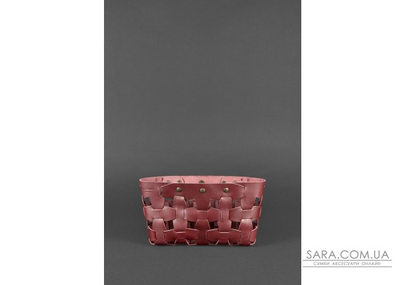 Шкіряна жіноча сумка Пазл S бордова Krast - BN-BAG-31-vin BlankNote